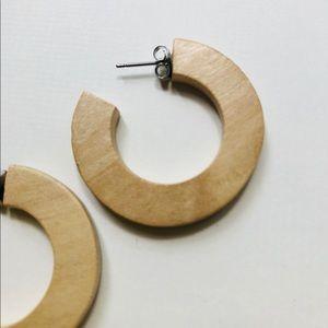 Jewelry - Wooden hoop earrings